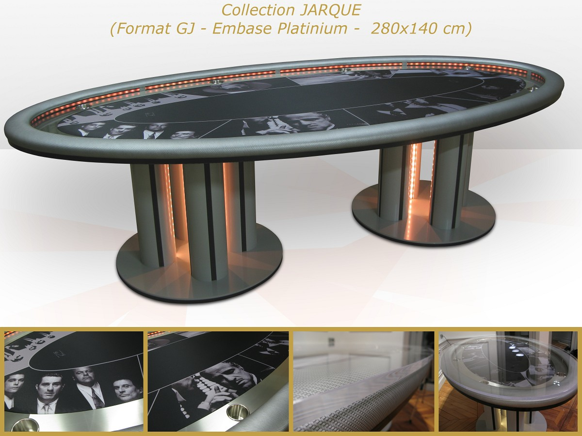 Table de poker jarque ou haut de gamme poker chips for Table qui se deplie